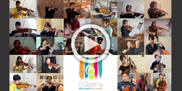 screengrab of El Sistema NJ Alliance Students performing with the NJSO