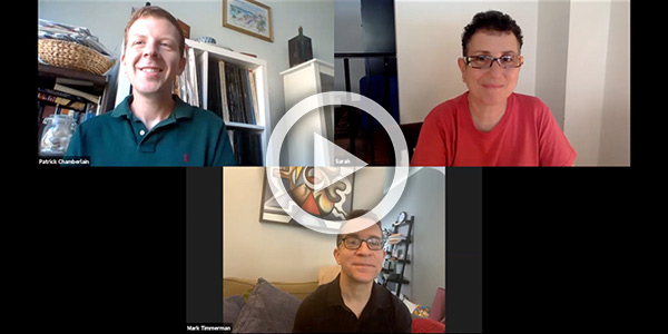 broadcast and chat with Sarah Seiver and Mark Timmerman